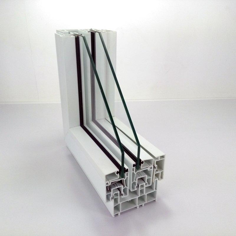 Upvc sliding window profile - 88# three rails