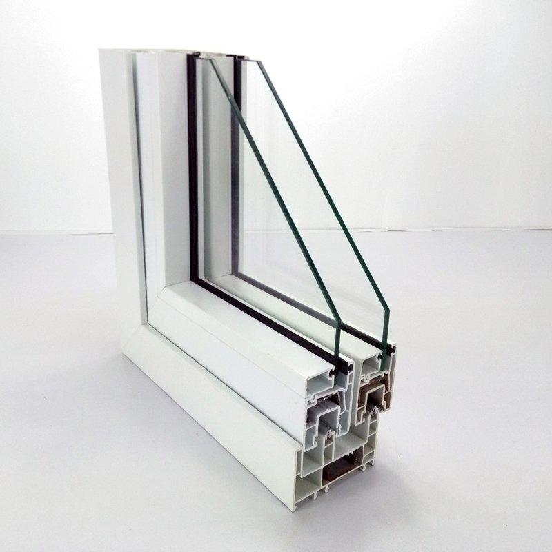 upvc sliding window profile - 80# three rails