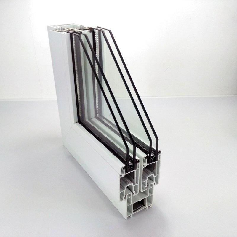 upvc sliding window profile - 60# two rails