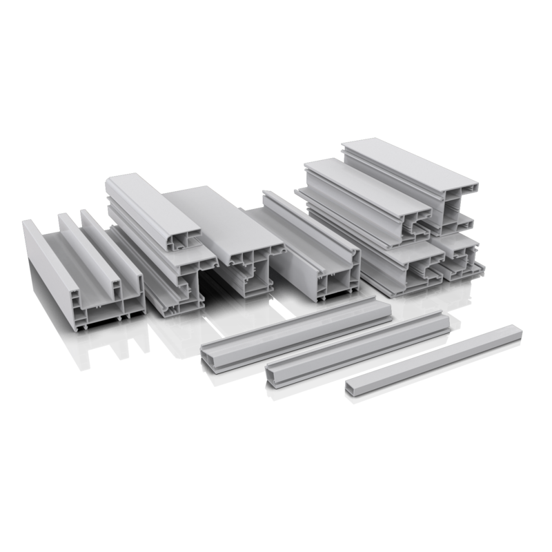 China pvc profile /upvc profile for doors and windows from well-known Customized-