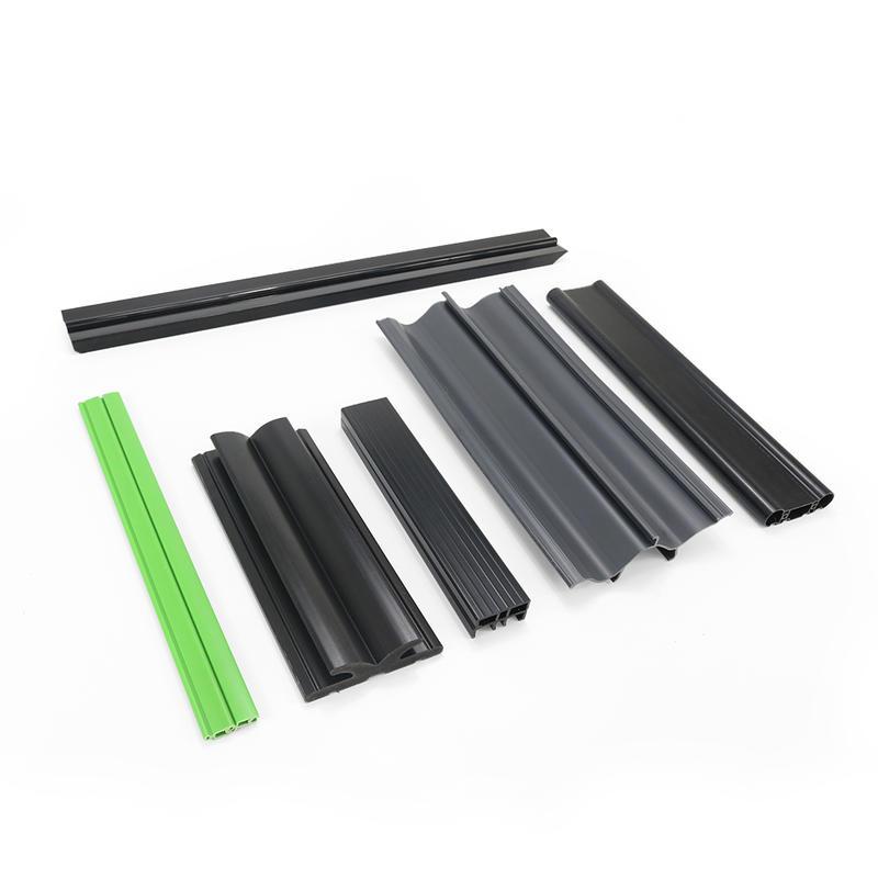 OEM Extrusion Color Pvc Hard Material Angle Corner Plastic Profile UPVC Window And Door Profiles T U Laminated Plastic Profile