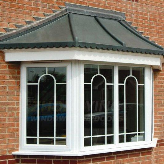 Upvc bay window - plastic glass window