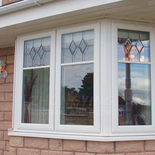 Upvc bay window - plastic glass window