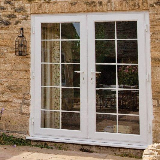 Upvc french door - pvc glass door